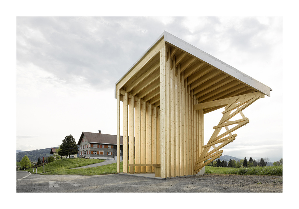 The bus shelter architecture in Austria