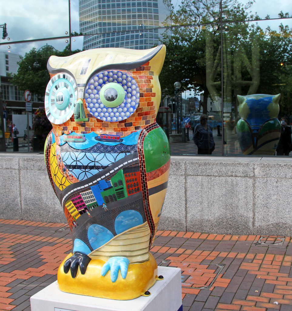 The Big Hoot – the owl inspired by Birmingham architecture